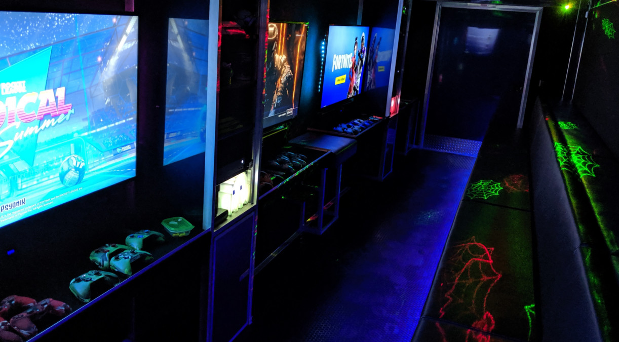 Video Game Party Laser Tag Kids Party Bus Brisbane