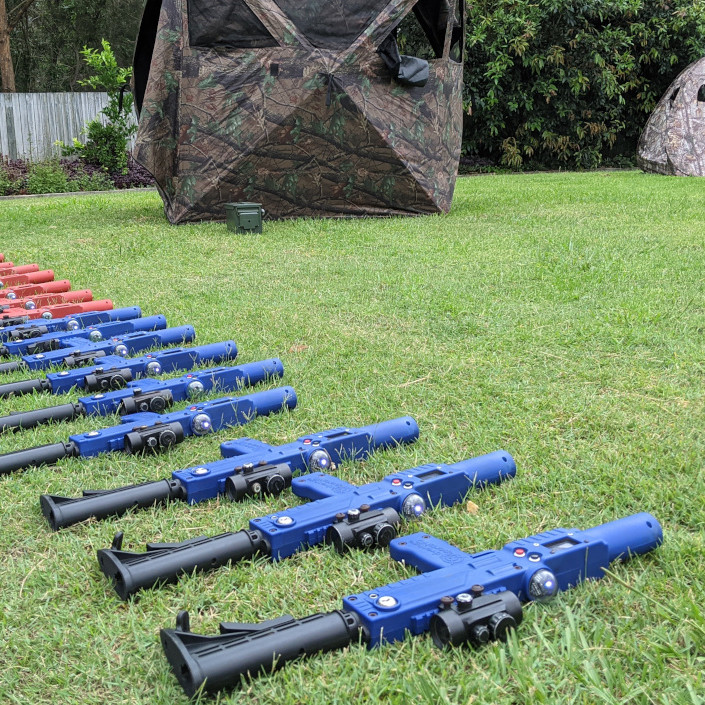 Laser Tag Skirmish - Blue game taggers