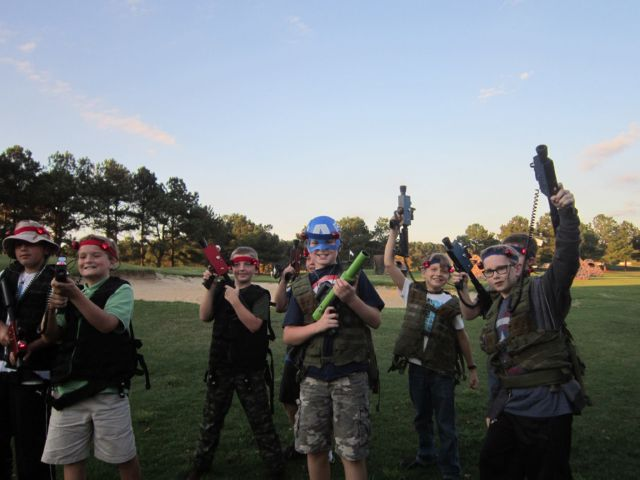 kids playing laser tag party with ghostly games entertainment